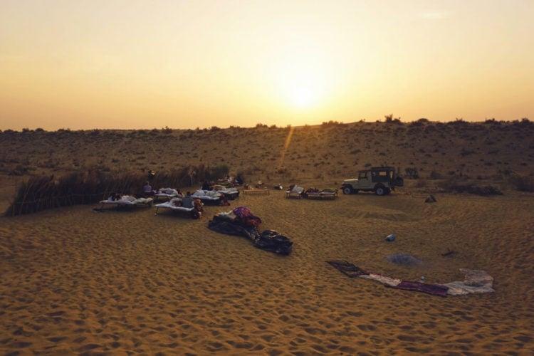 Sleeping in the Thar Desert