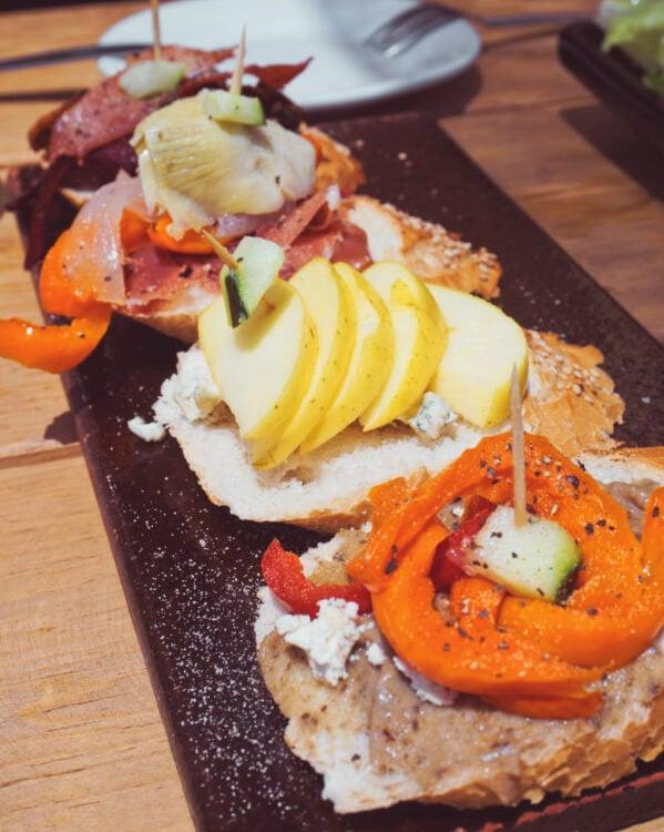 tapas in restaurant in guanajuato