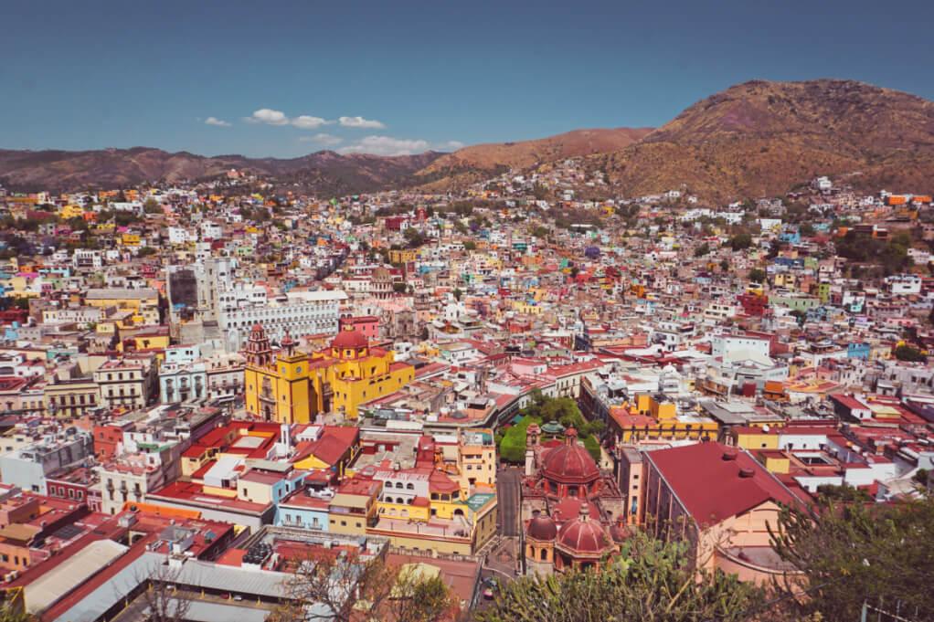 View of Guanajuato City from El Pipila statue
