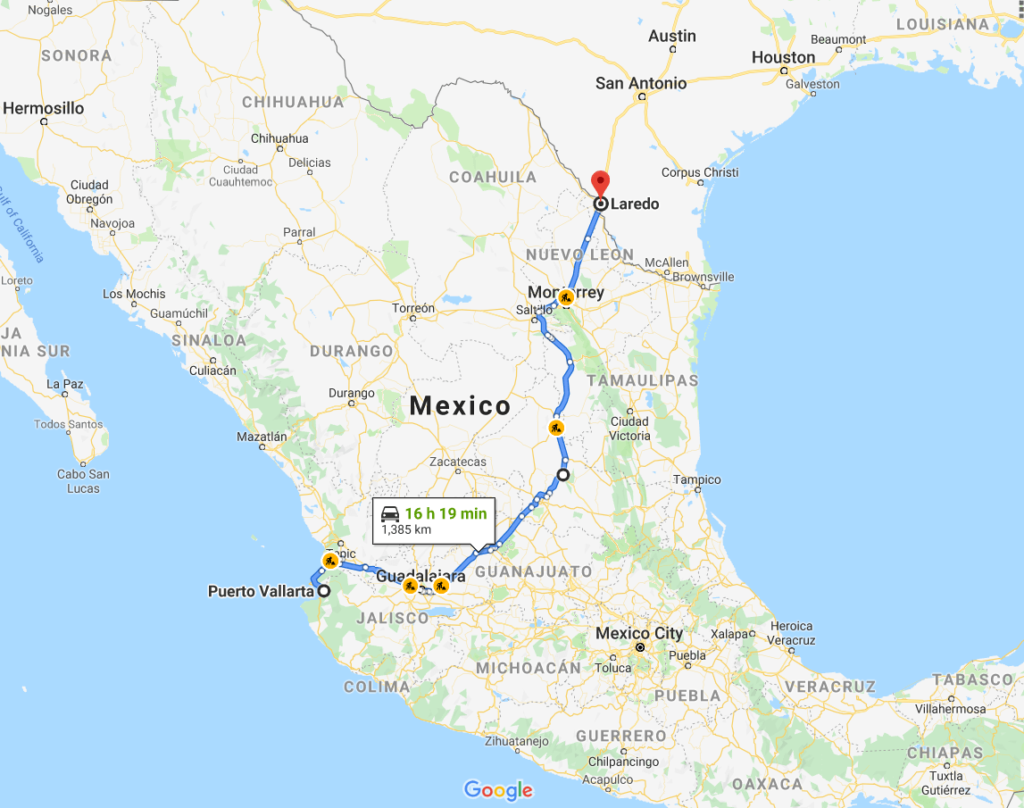 Crossing the Mexico-US Border By Car | Route from Puerto Vallarta to Texas // BUCKETLIST BRI