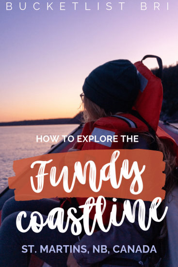 Exploring the Fundy Coastline with Red Rock Adventure in the Bay of Fundy, St. Martins, New Brunswick #Canada #outdoors #adventure #travel // BUCKETLIST BRI www.bucketlistbri.com