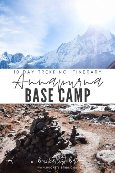 How to Trek to ABC Annapurna Base Camp (Trek Itinerary) Bucketlist Bri www.bucketlistbri.com #bucketlist #nepal #trek #trekking