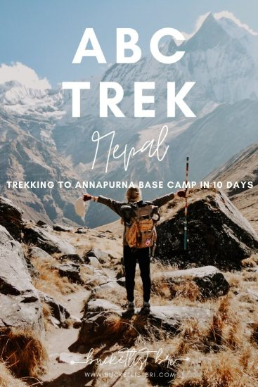 A 10-Day Annapurna Base Camp ABC Trekking Itinerary | Bucketlist Bri www.bucketlistbri.com #nepal #trekking #himalayas #annapurnabasecamp