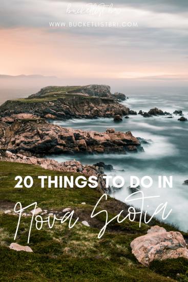 20 Bucket List-Worthy Things to Do in Nova Scotia, Canada #bucketlist #canada #novascotia #travel www.bucketlistbri.com Bucketlist Bri