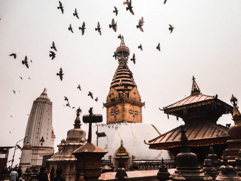 Swayambunath Stupa in Kathmandu, Nepal Bucket List www.bucketlistbri.com