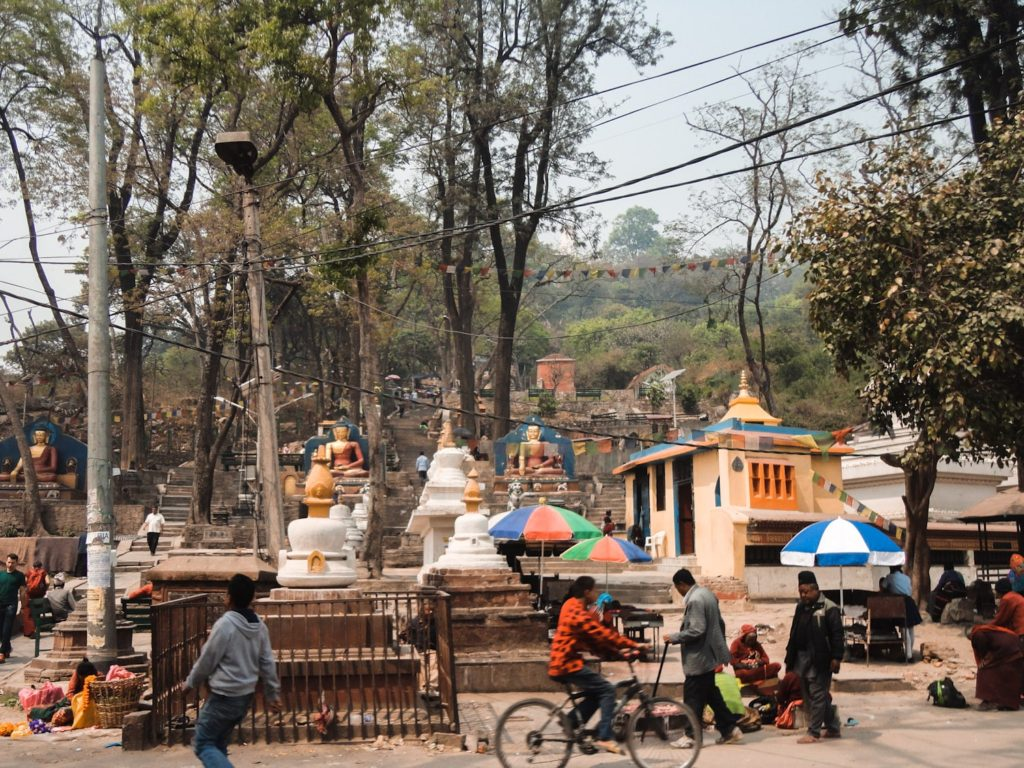 Stairs that lead to Swayambunath Monkey Temple (They get steep!) | Bucketlist Bri
