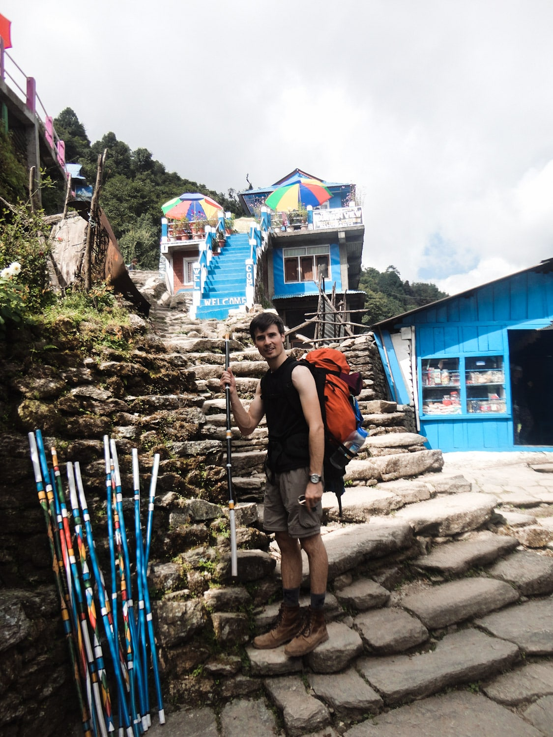 Trekking Bamboo Sticks ABC Trek | Bucketlist Bri