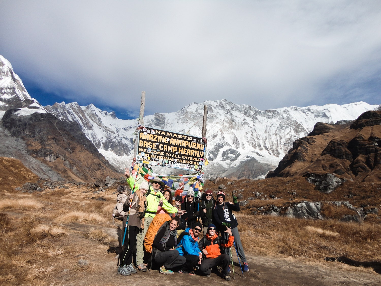 Annapurna Base Camp Welcome Sign | Bucketlist Bri