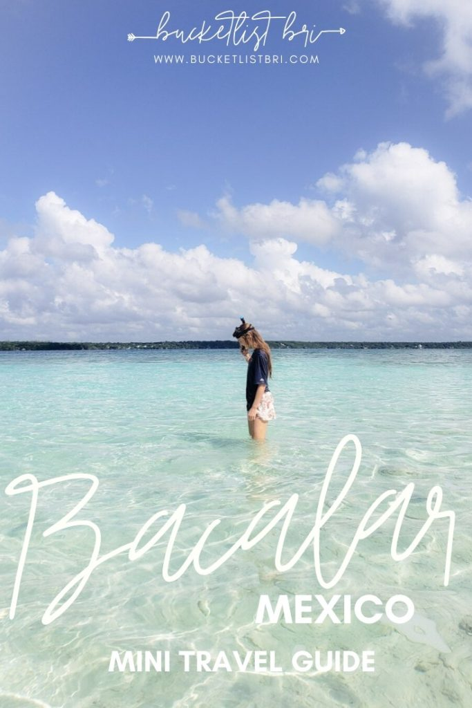 Kayaking in Bacalar's Lagoon of 7 Colors - Bacalar Mini Travel Guide | bucketlist bri #bacalar #mexico #bucketlist #lagoon