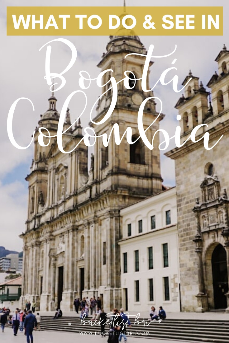 10 Best Things to Do in Bogota Colombia, from strolling around Bogota' oldest neighborhood in La Candelaria, to taking the funicular up to Montserrate, and exploring to find all the hidden street art! | Read the blog: www.bucketlistibri.com Bucketlist Bri #bogota #colombia #travel #southamerica