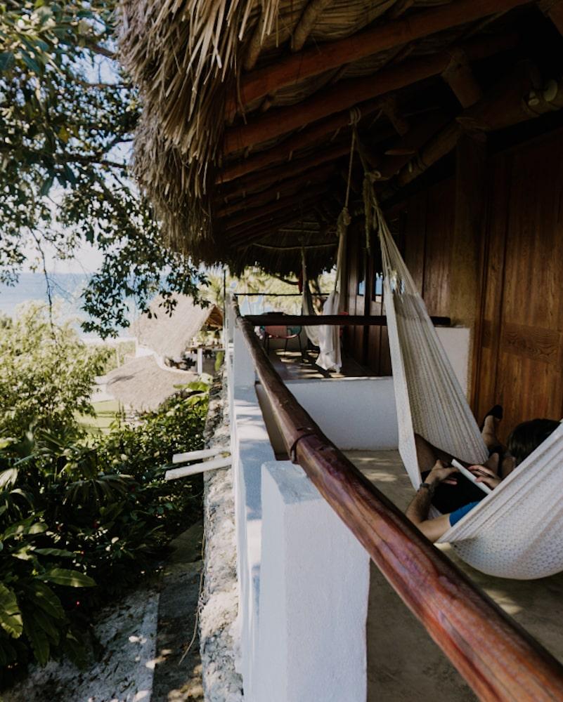 Maraica Eco Hotel balconies with hammocks