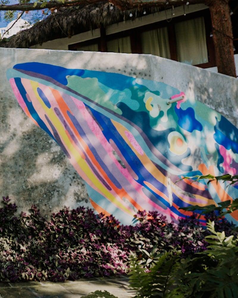 Whale mural art @ Maraica Hotel San Pancho
