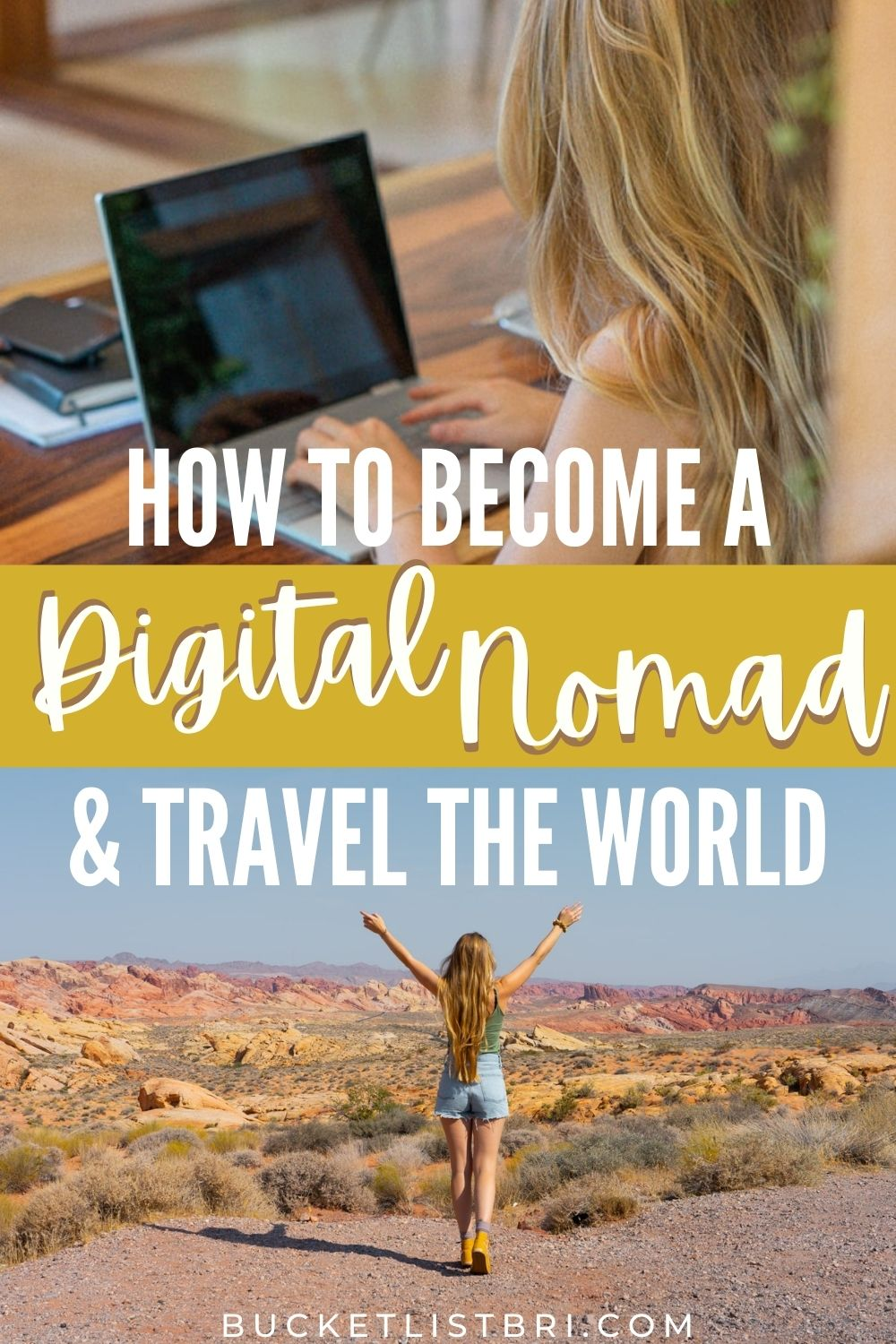 how to become a digital nomad pin
