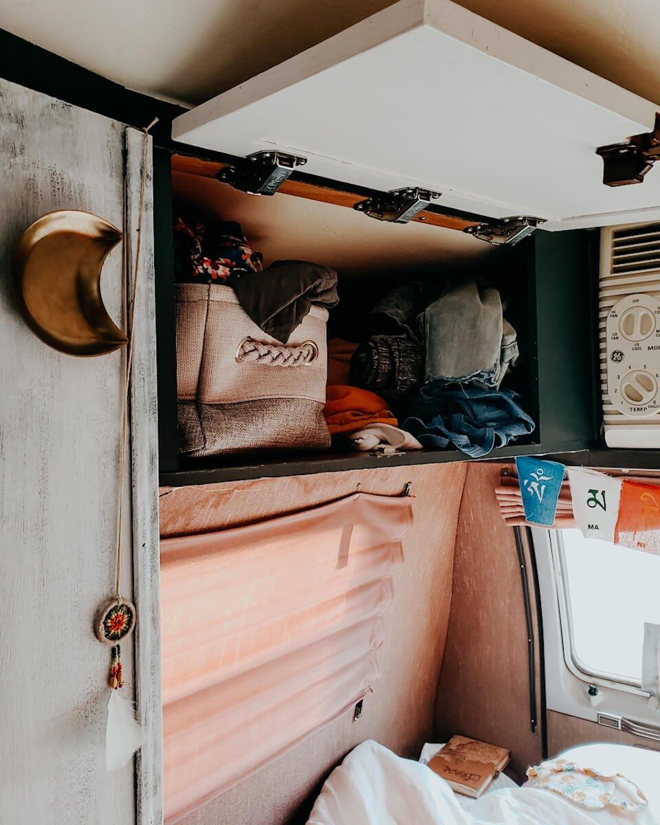 storage baskets for van life