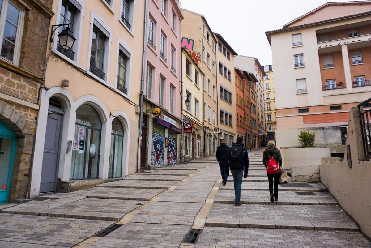 Pentes de la Croix Rousse, Lyon, France