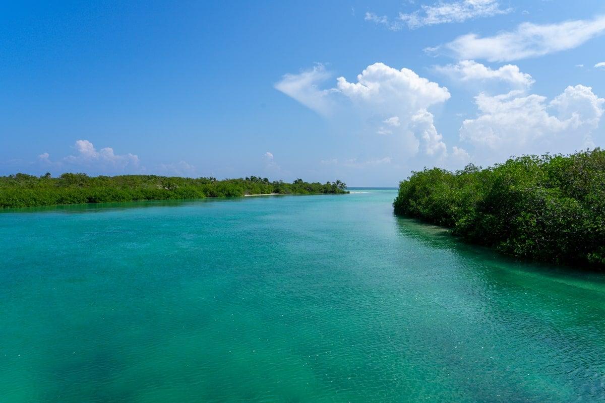 coastal sian kaan where lagoon and sea meet