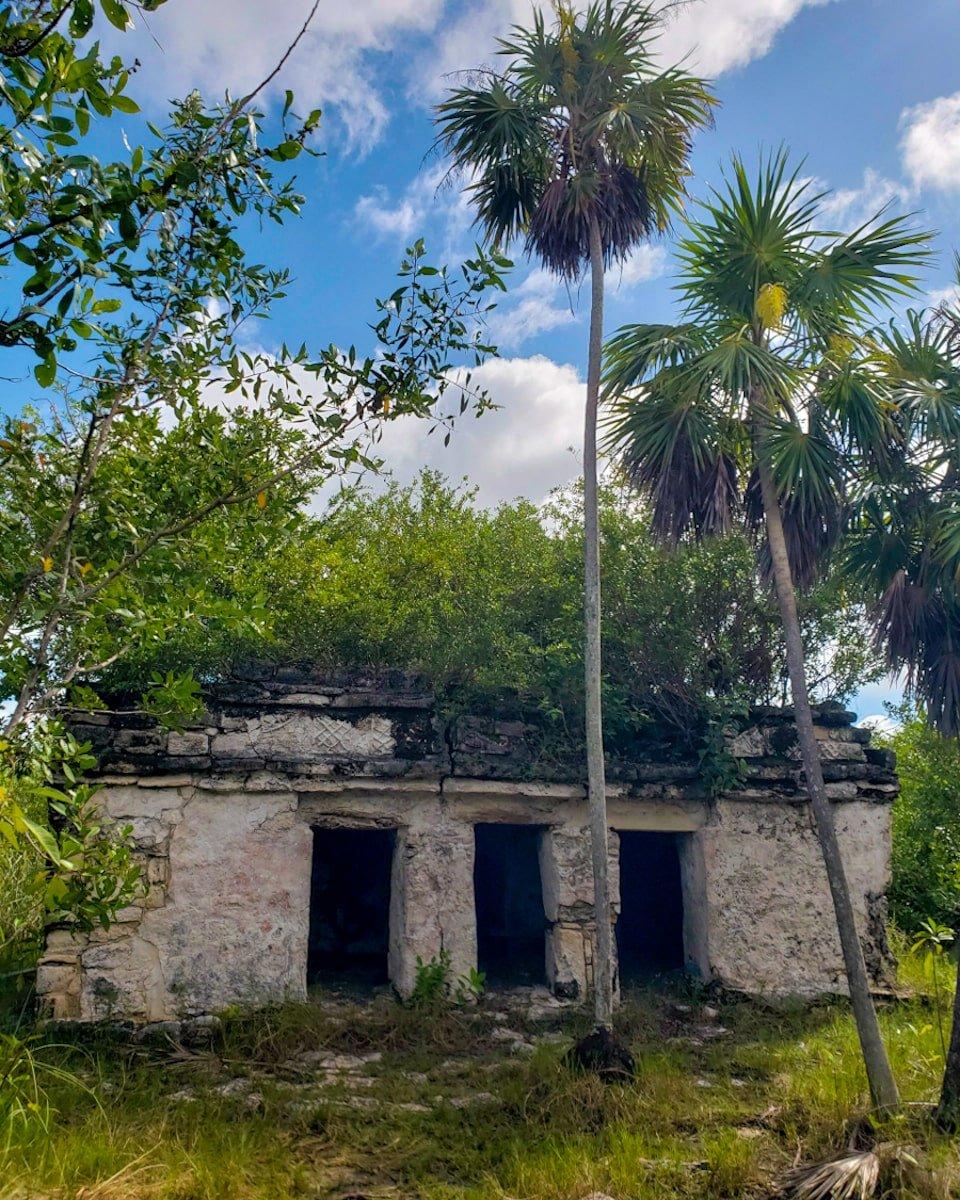 mayan ruins inside sian ka'an biosphere reserve