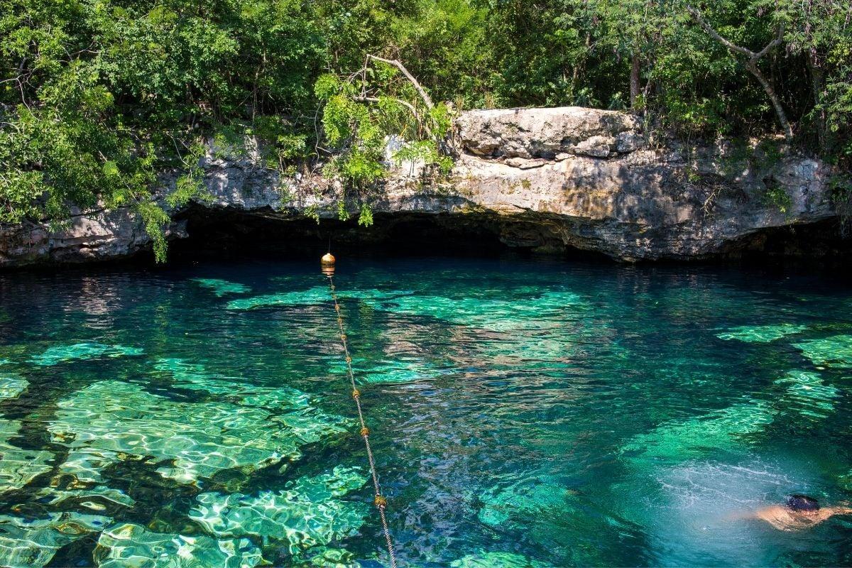 cenote azul near tulum and playa del carmen