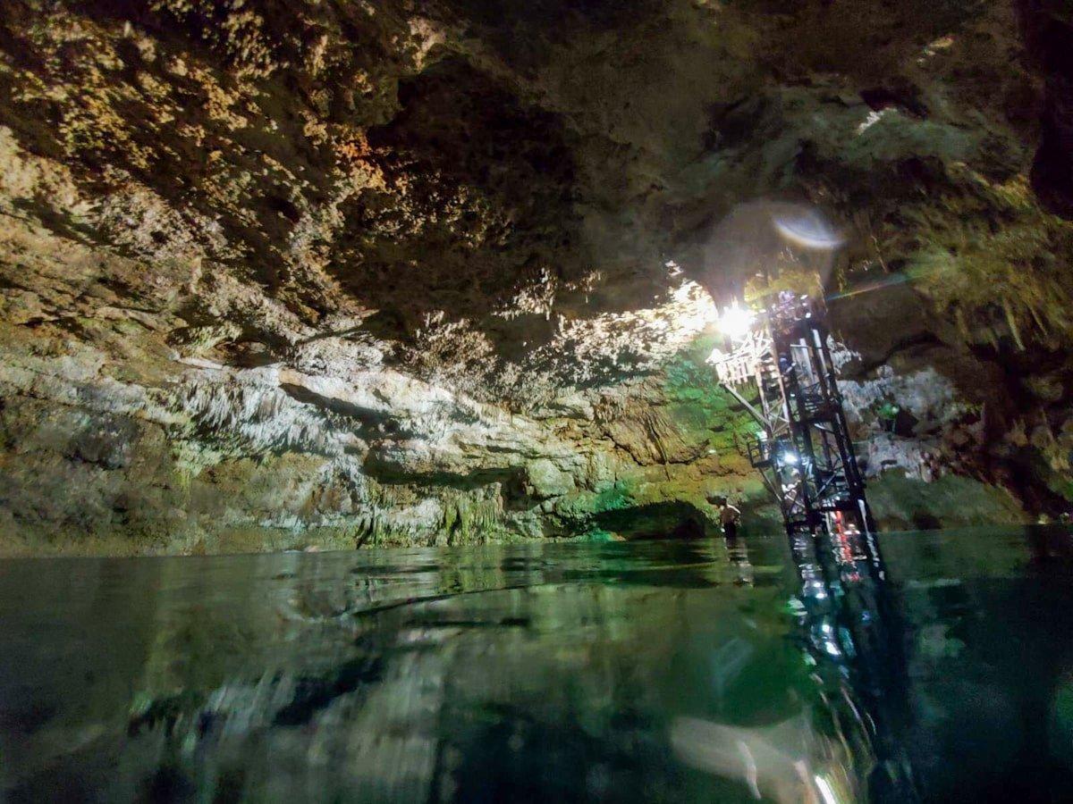 cenote tankach-ha near coba mayan ruins