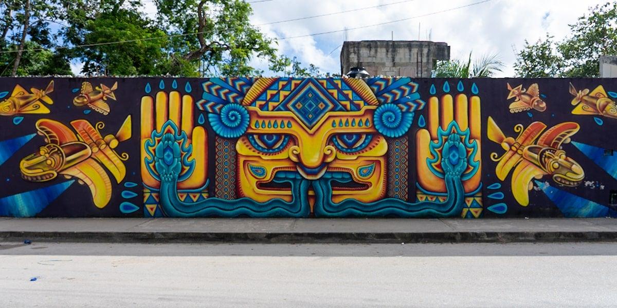 tlaloc tulum street art