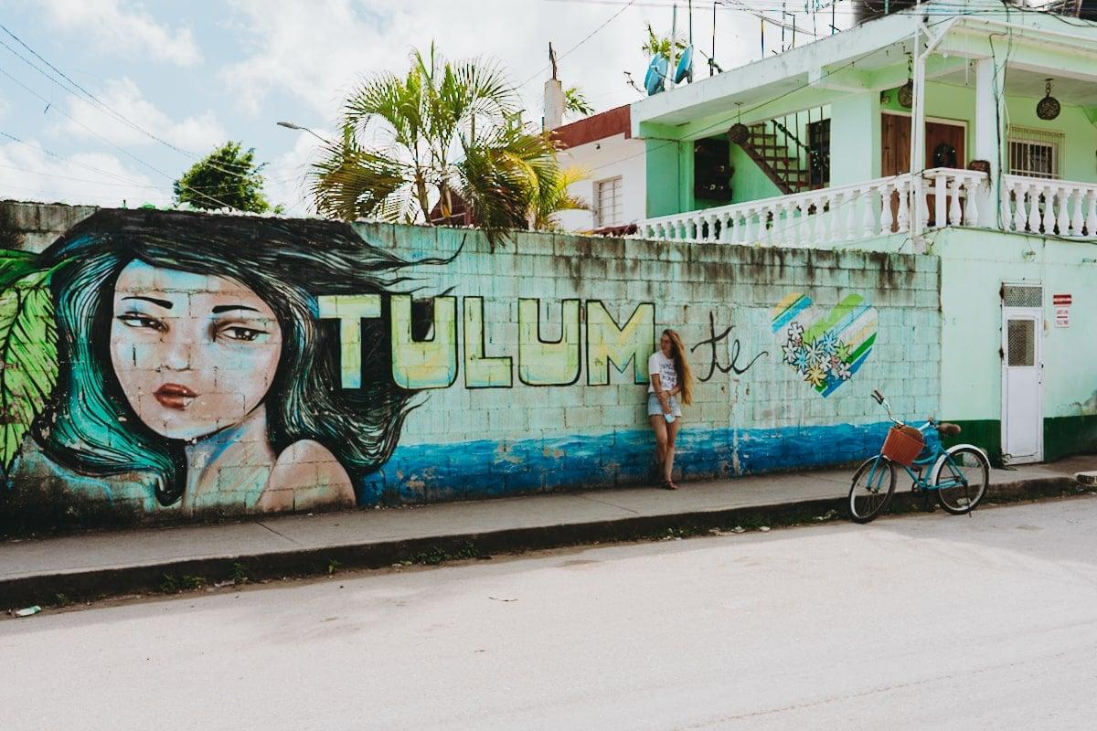 tulum te amo heart mural tulum