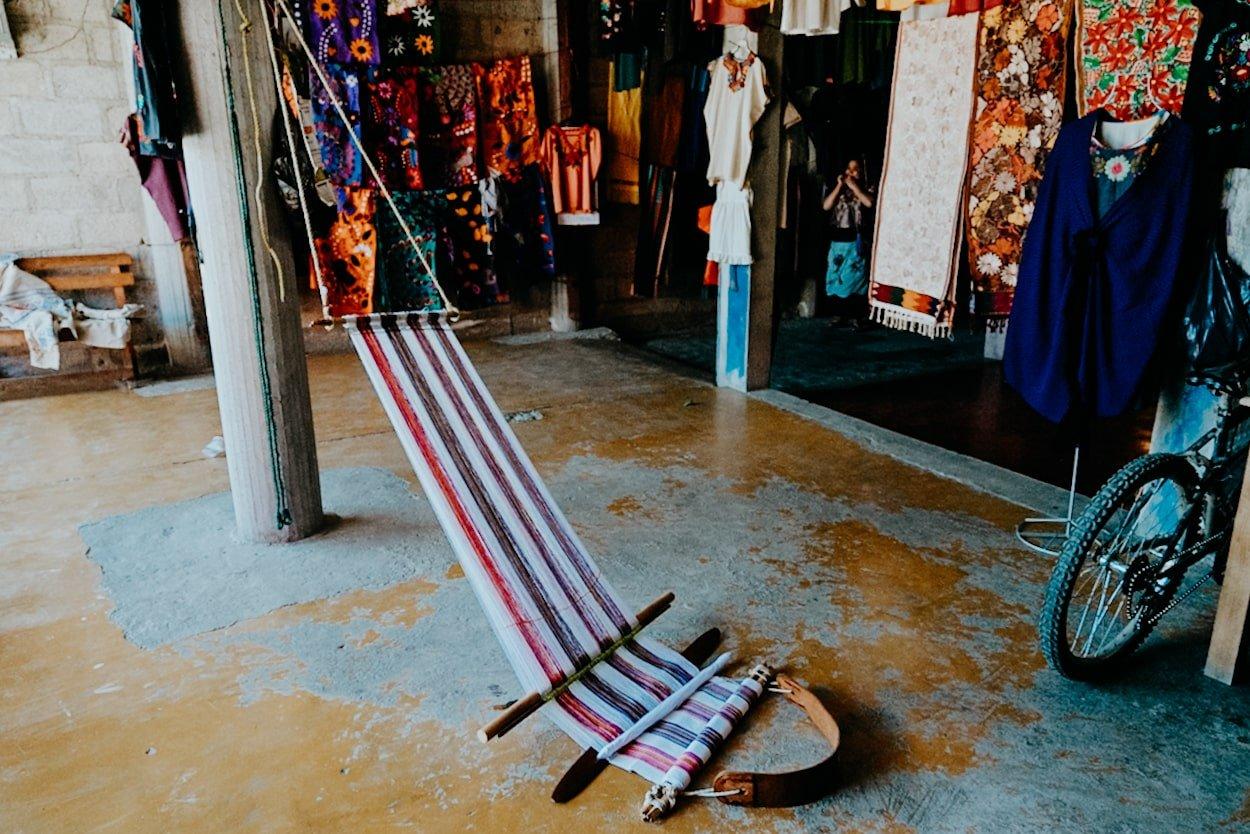 backstrap loom for weaving (chiapas, mexico)