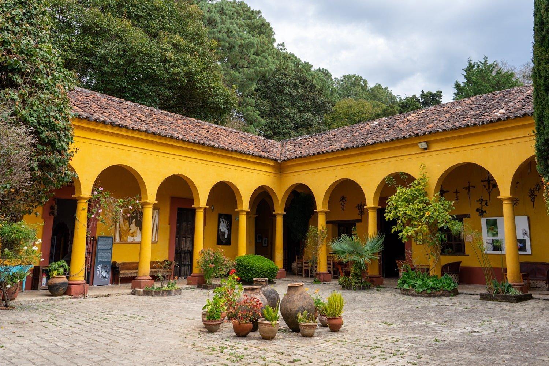 Inside the Casa Na Bolom Museum Courtyard