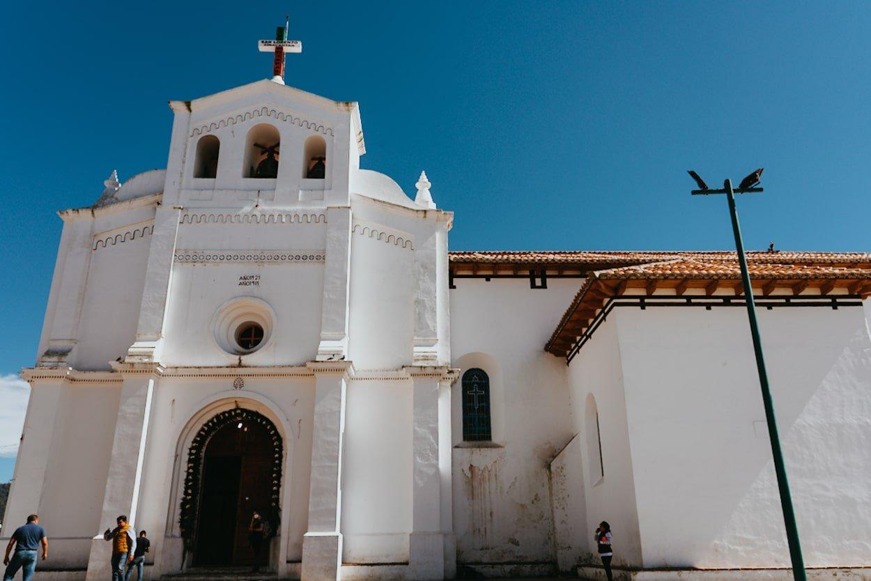 San Lorenzo church in Zinacantan Chiapas Mexico