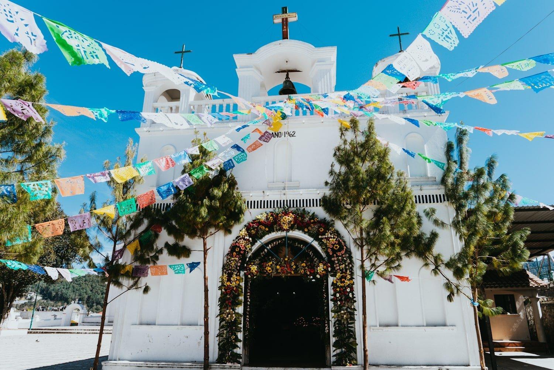 San Sebastian church in Zinacantan, Mexico