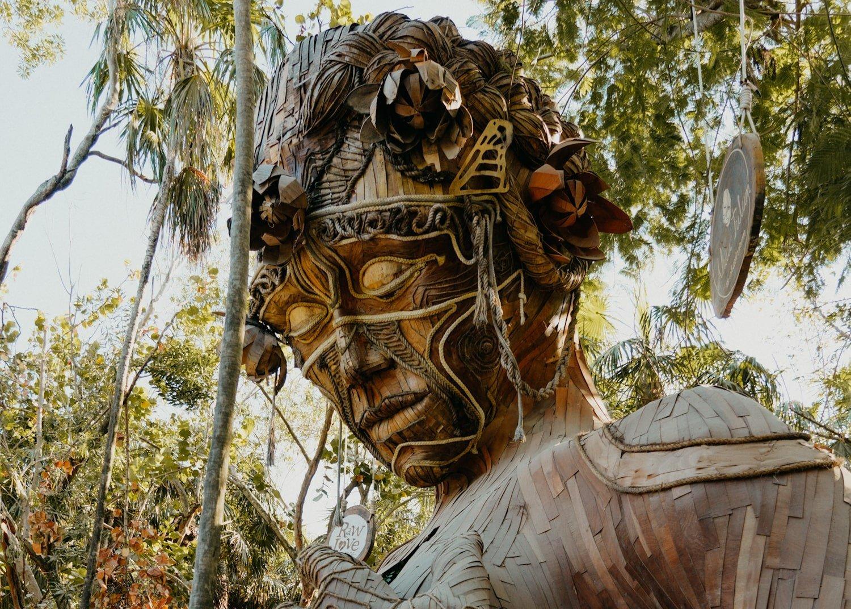 """Goddess art statue """"Ven a la Luz"""" in Tulum Mexico"""