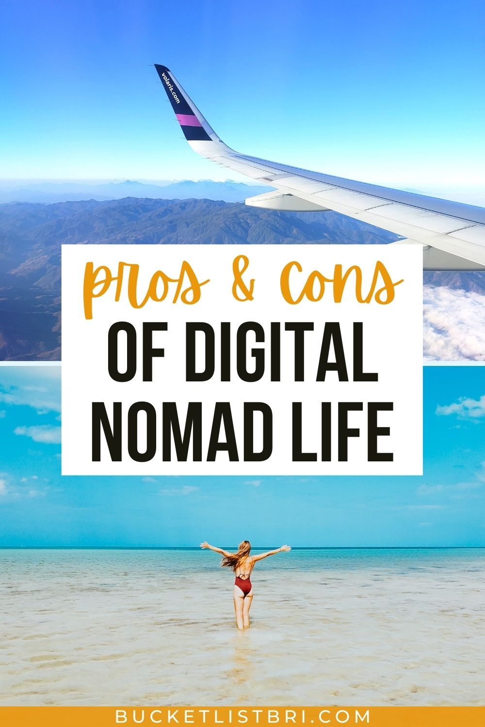 pin image with text pros cons digital nomad life