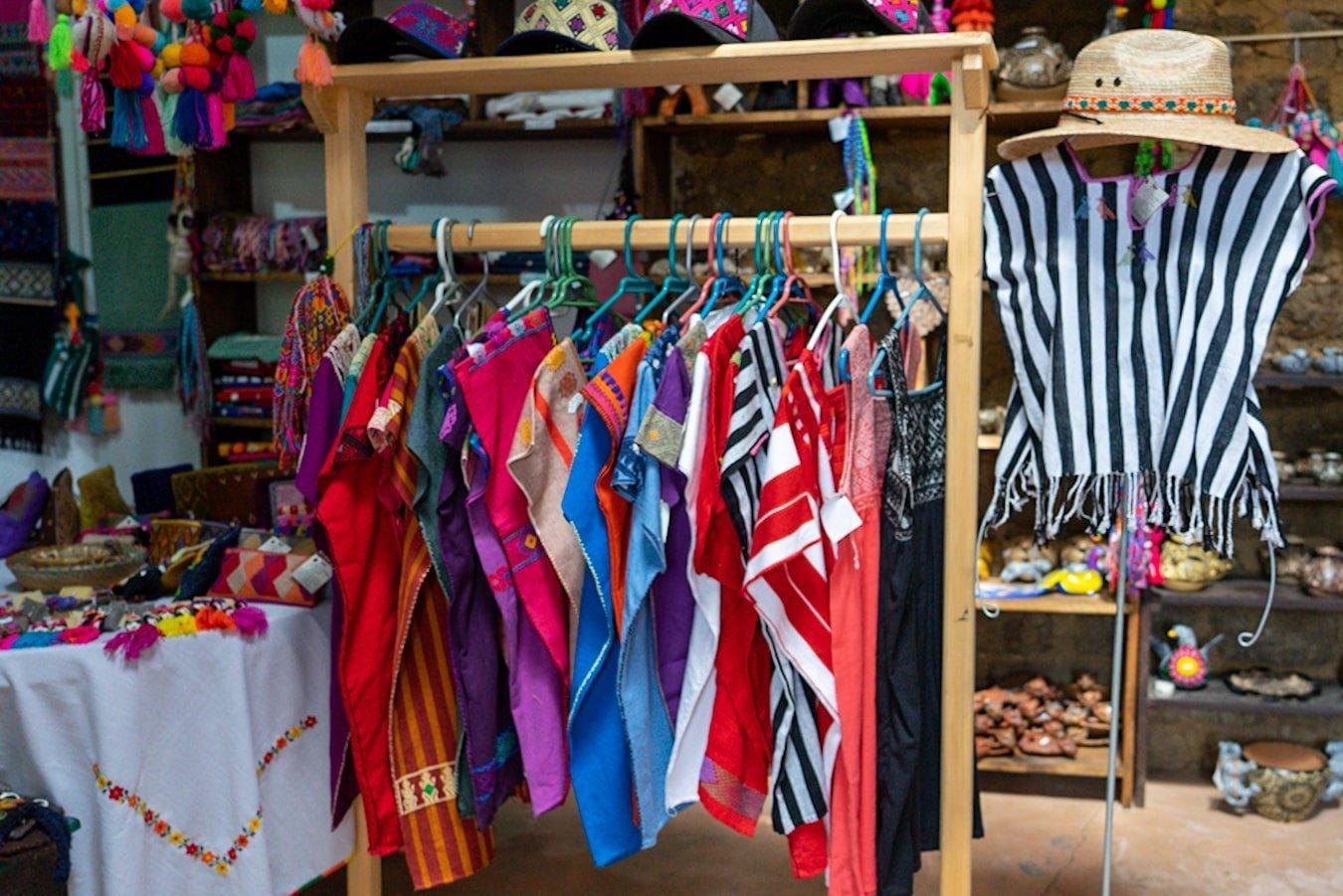 textiles shop inside na bolom museum