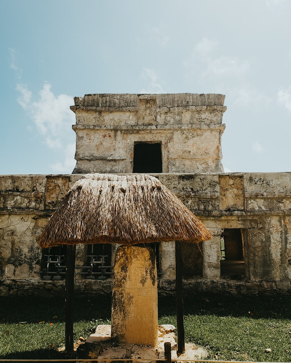 Temple of the Frescoes inside Tulum Ruins