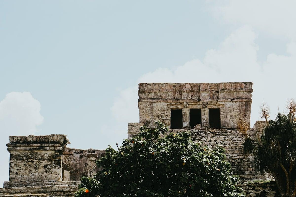 El Castillo mayan ruins inside tulum national park
