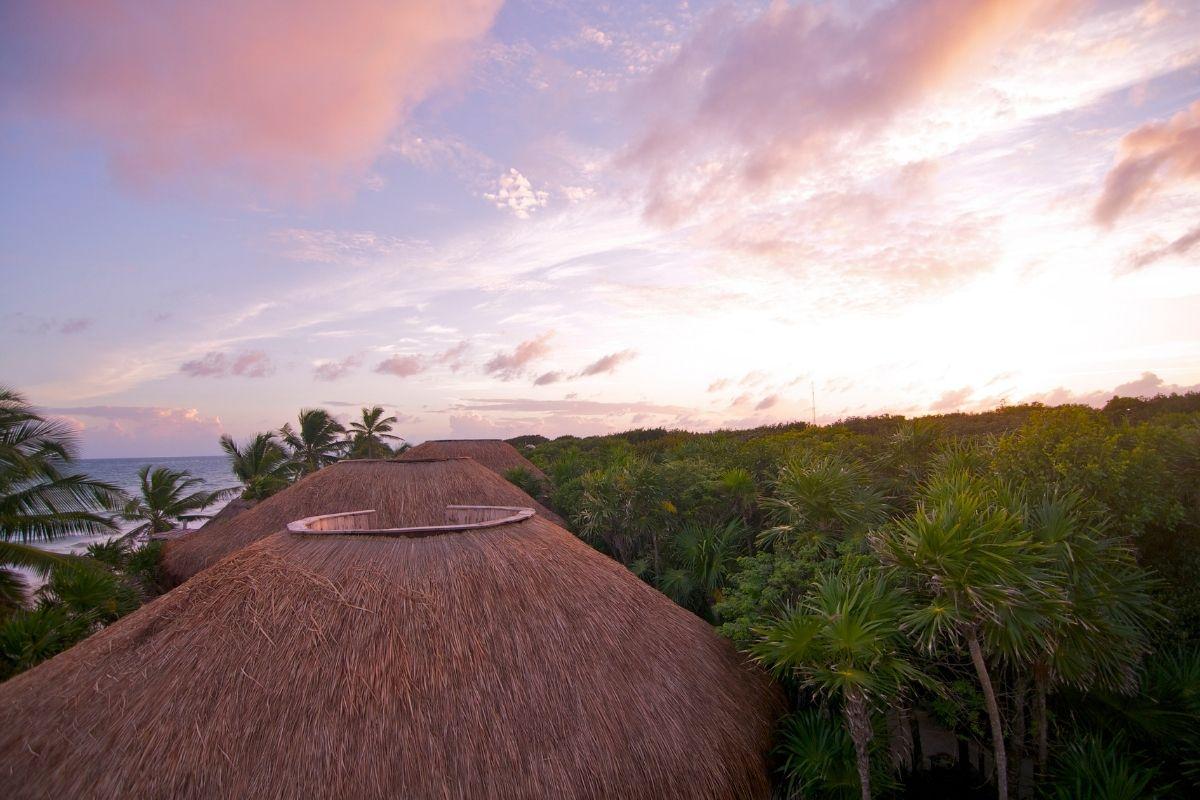 rooftop bar sunset tulum