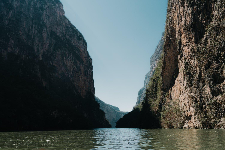 view of Rio Grijalva and Canon del Sumidero tour in Chiapas Mexico