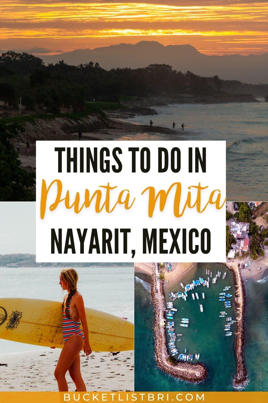 images of punta mita nayarit with text overlay
