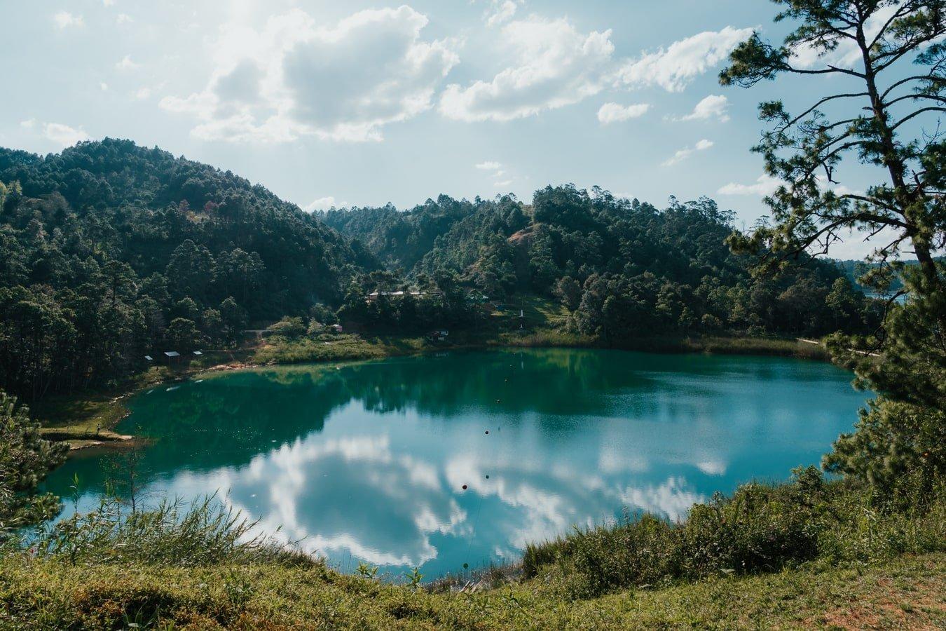 international lake on mexico-guatemalan border