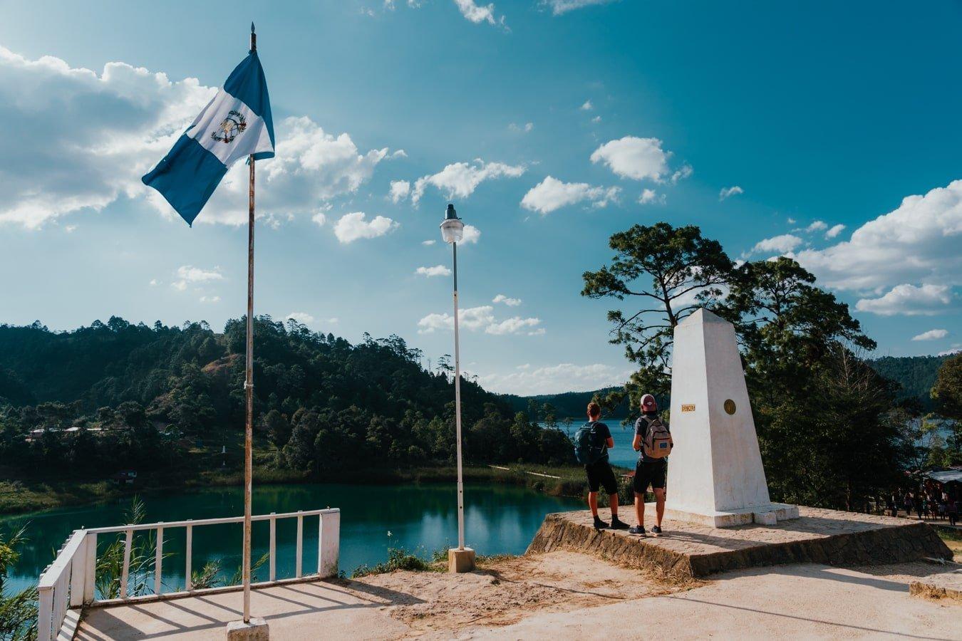 lago internacional border between mexico and guatemala in chiapas