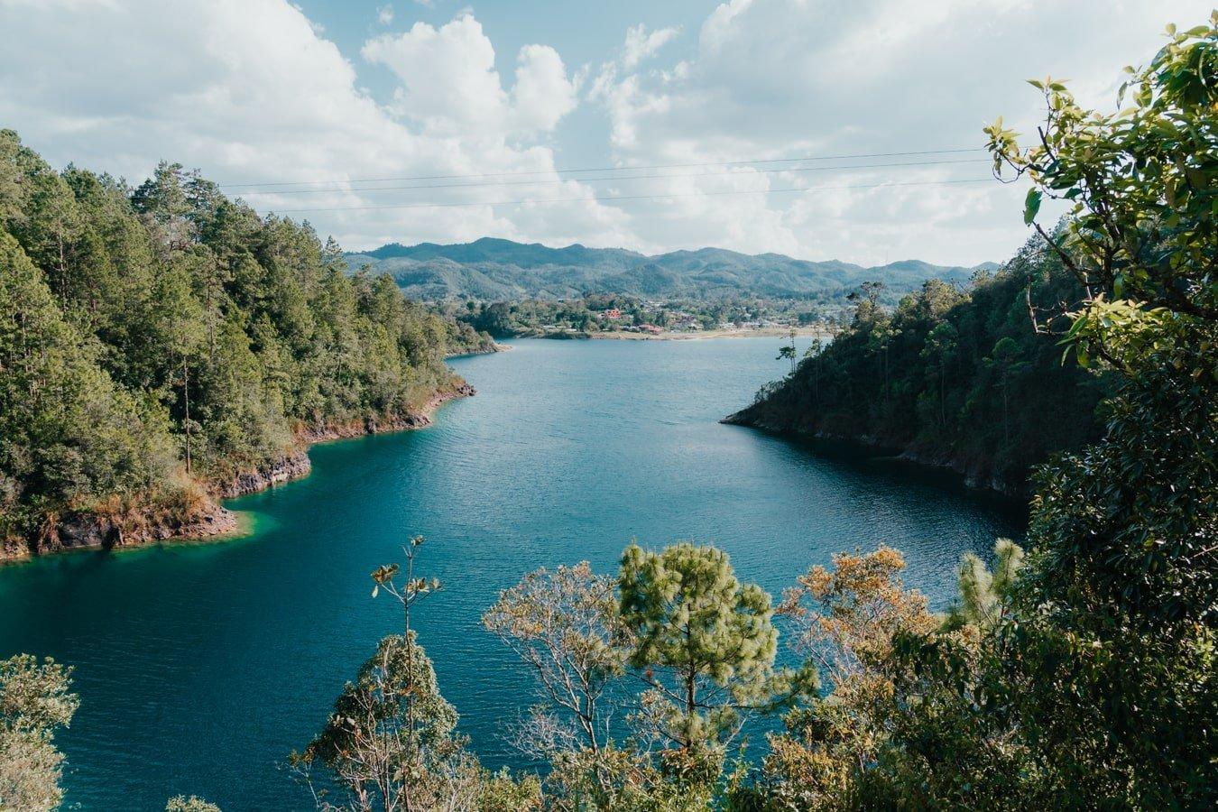 lake tziscao in lagos montebello in chiapas mexico