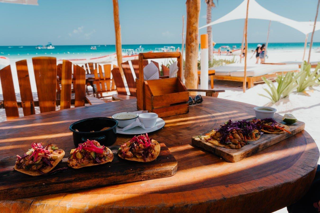 beachfront restaurant tulum