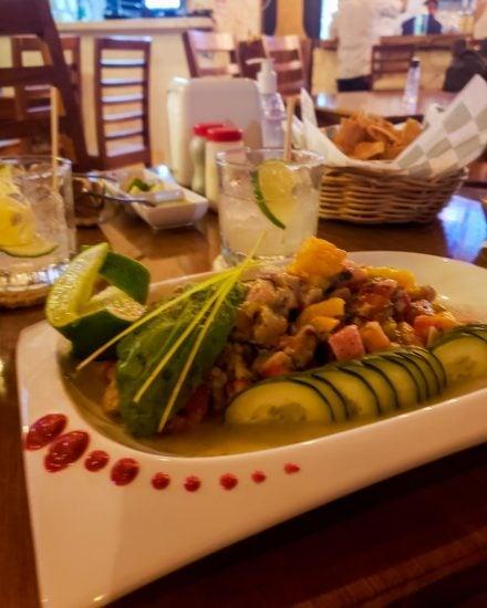 mayan ceviche at yaax ik restaurant in tulum
