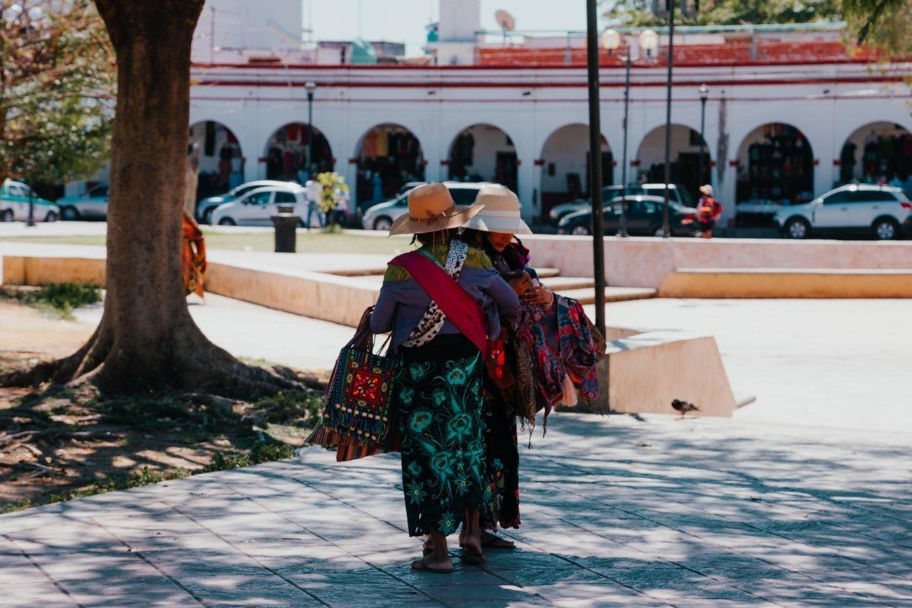Zoque indigenous women in Chiapa de Corzo Mexico
