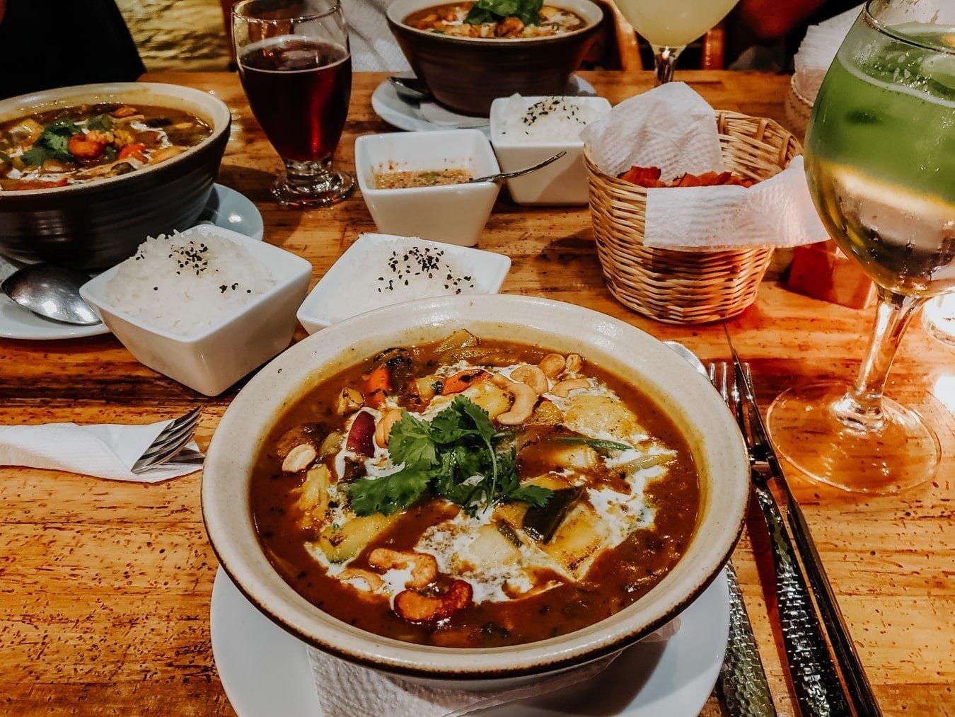 thai street food at BangCook restaurant in San Cristobal de las Casas