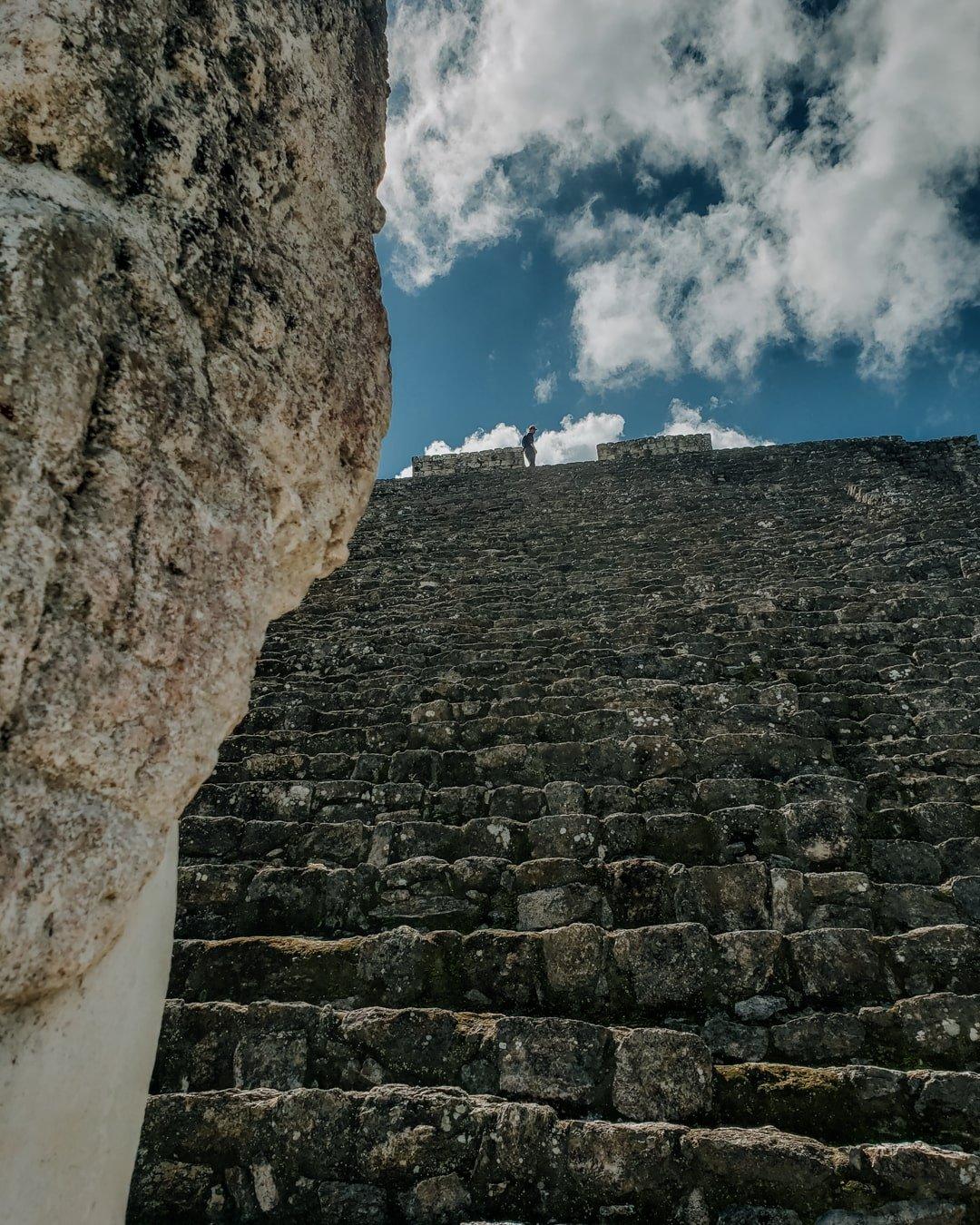 calakmul mayan ruin stairs