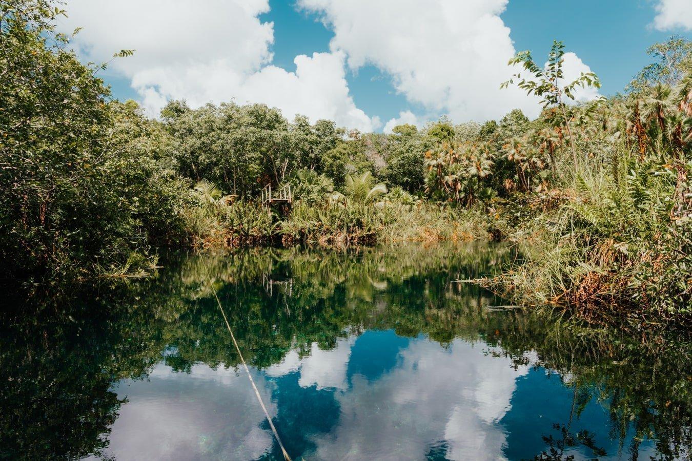 cenote cristal in tulum mexico