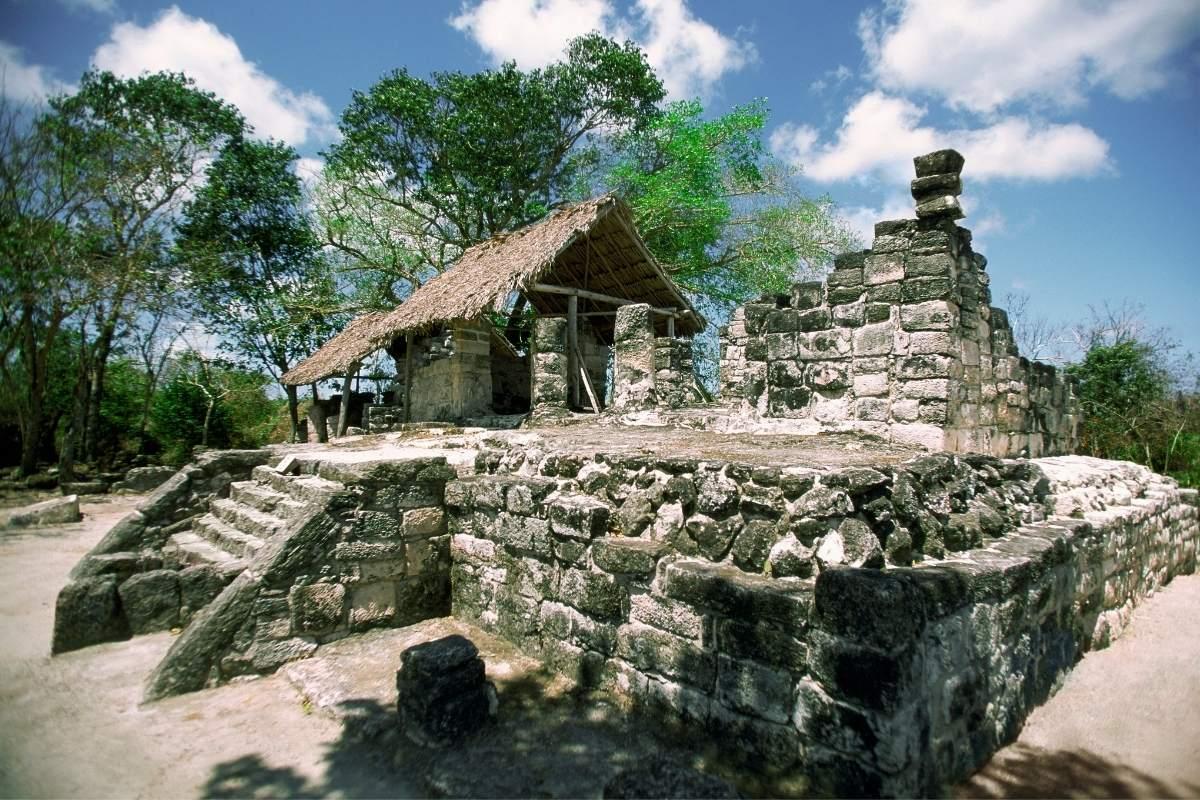 san gervasio mayan ruins in cozumel mexico